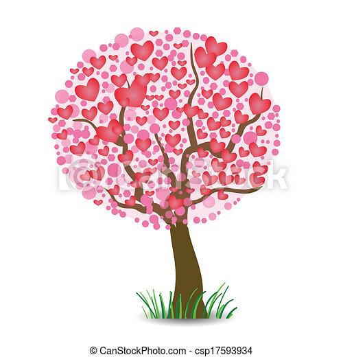 לב, עץ - csp17593934
