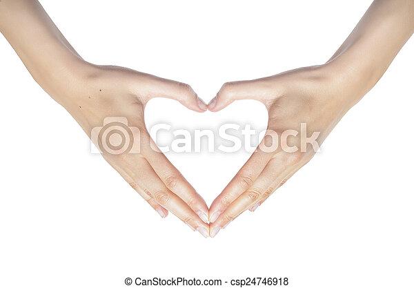 לב, hands. - csp24746918