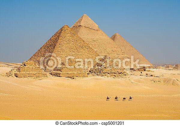לך, קו, גמלים, כל, פירמידות - csp5001201