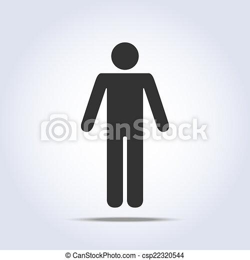 לעמוד, icon., וקטור, בן אנוש, דוגמה - csp22320544