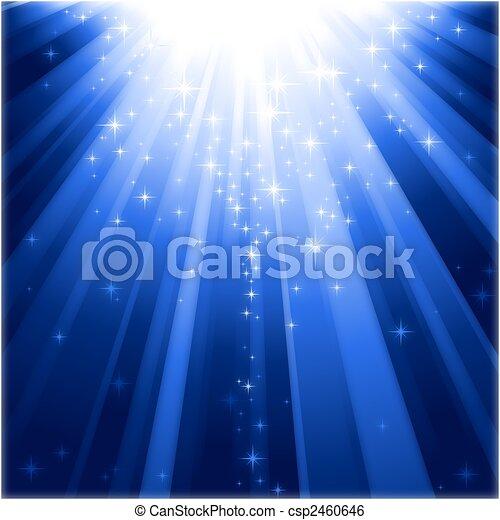 לרדת, אור, קסם, כוכבים, קורות - csp2460646