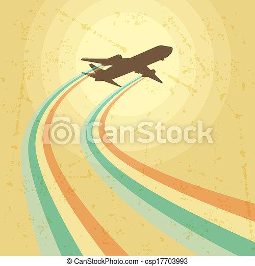 מטוס, לטוס, דוגמה, sky. - csp17703993