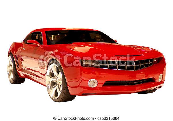 מכונית, מושג, שריר - csp8315884