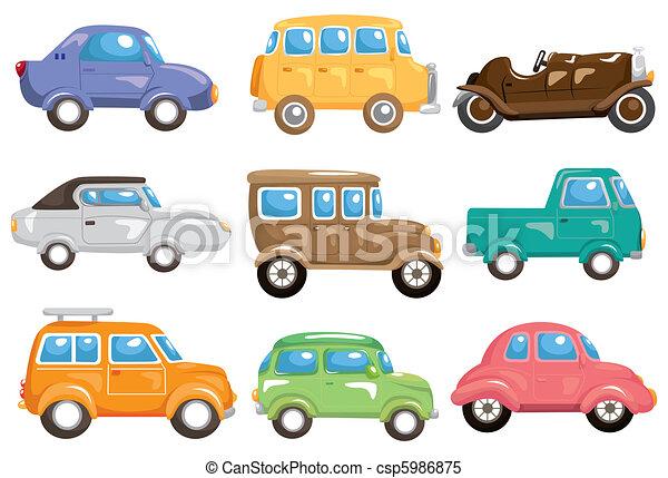 מכונית, ציור היתולי, איקון - csp5986875