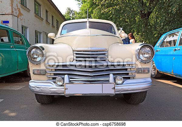 מכונית, ראטרו - csp6758698