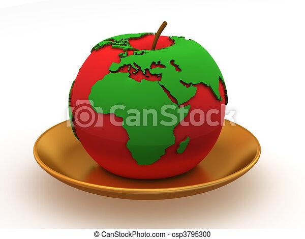 מפה, תפוח עץ - csp3795300