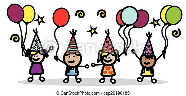 מפלגה, יום הולדת, ילדים - csp26190185