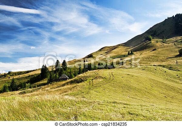 נוף., דרמטי, גבעות, שמיים, ארץ, יפה - csp21834235