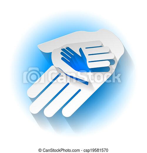 נייר, ידיים - csp19581570