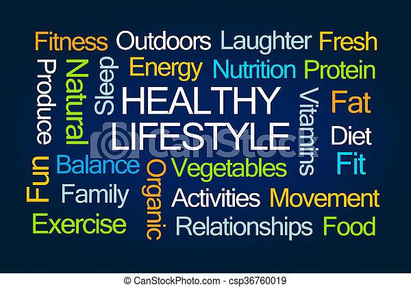 סגנון חיים בריא, מילה, ענן - csp36760019