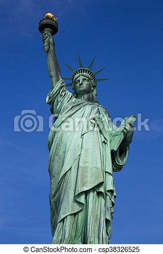 עיר, דרור, יורק, פסל, חדש - csp38326525