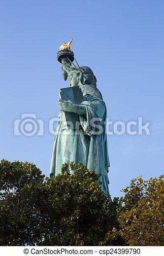 עיר, דרור, יורק, פסל, חדש - csp24399790