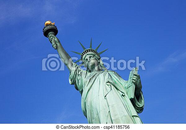 עיר, דרור, יורק, פסל, חדש - csp41185756