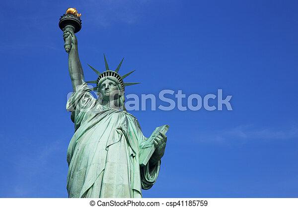 עיר, דרור, יורק, פסל, חדש - csp41185759