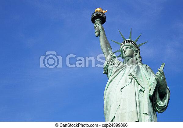 עיר, דרור, יורק, פסל, חדש - csp24399866