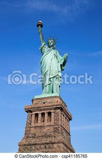 עיר, דרור, יורק, פסל, חדש - csp41185765