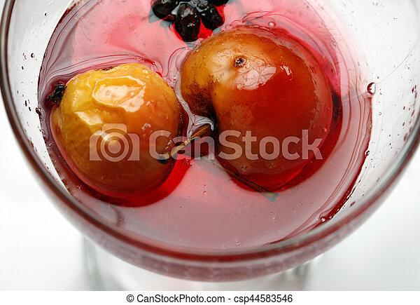 עלה, סירופ, תפוח עץ, אדום - csp44583546