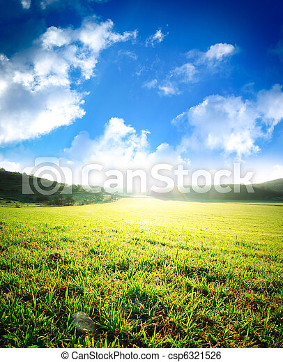עלית שמש, אחו ירוק, עמוק - csp6321526