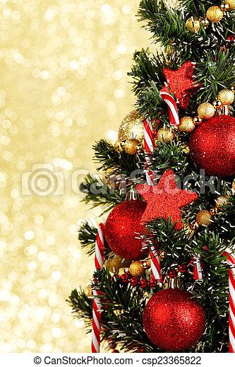 עץ, חג המולד - csp23365822