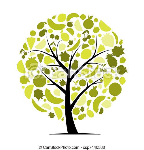 עצב, אנרגיה, עץ של פרי, שלך - csp7440588