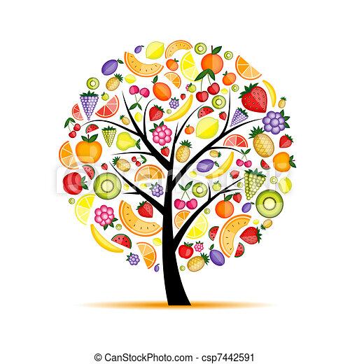 עצב, אנרגיה, עץ של פרי, שלך - csp7442591