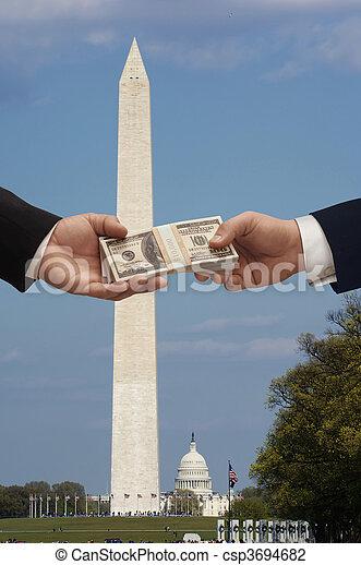 פוליטיקה, &, כסף - csp3694682