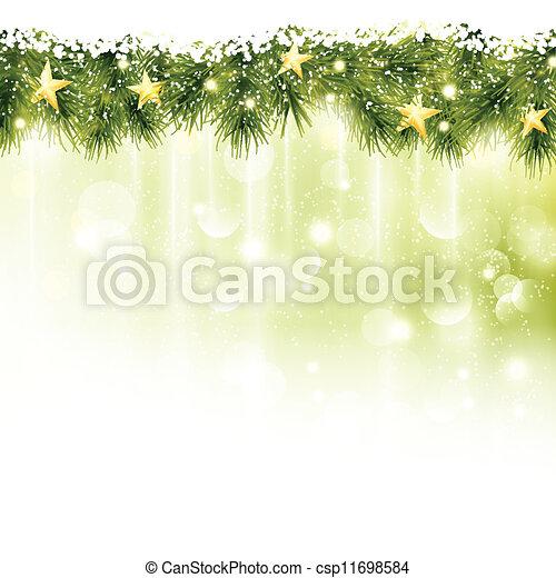 פ.י.ר., זהוב, כוכבים, אור, זמורות, רקע ירוק, גבול, רך - csp11698584
