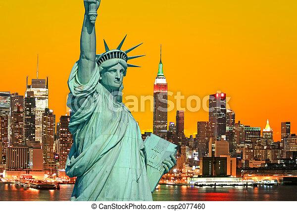 פסל, עיר, יורק, דרור, חדש - csp2077460