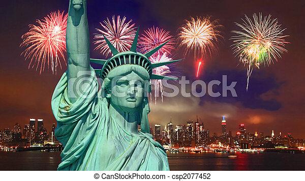 פסל, עיר, יורק, דרור, חדש - csp2077452