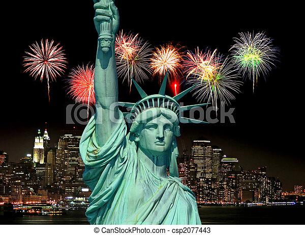 פסל, עיר, יורק, דרור, חדש - csp2077443