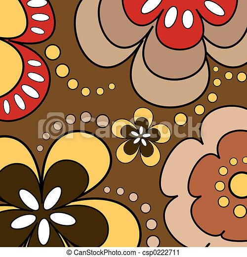 פרחים, ראטרו - csp0222711