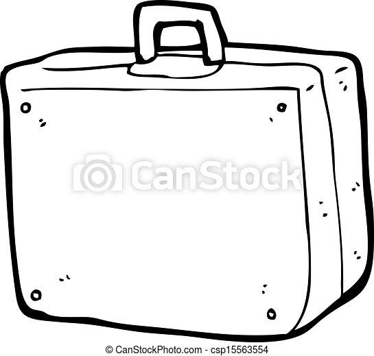 ציור היתולי מזוודה  canstock
