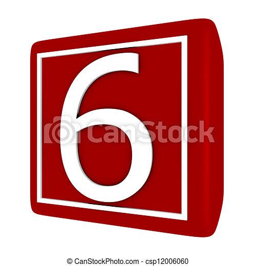 קבע, render, מספר 1, 6, פונט, 3d - csp12006060