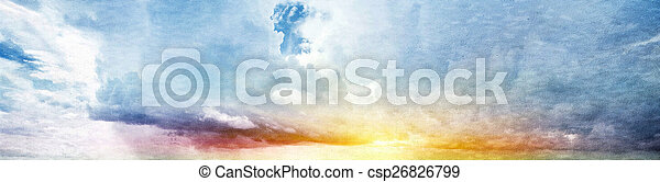 קיץ, שמיים - csp26826799