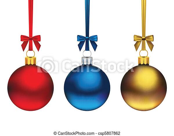 קישוטים של חג ההמולד - csp5807862