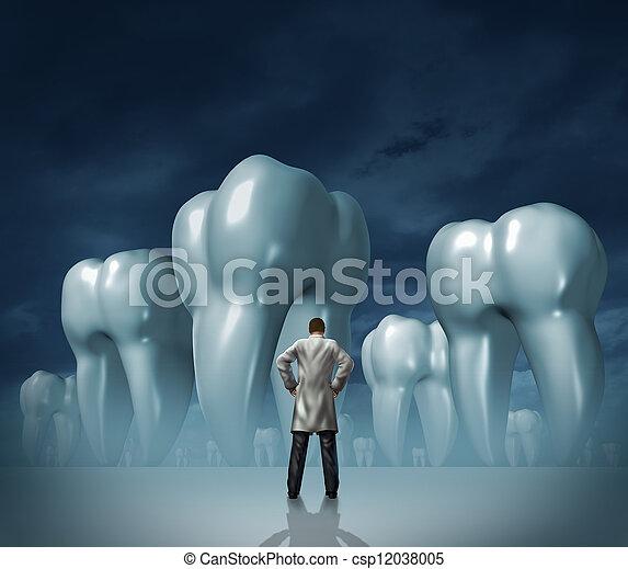 רופא שניים, זהירות של השיניים - csp12038005