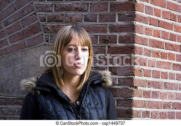שיער, אישה, צעיר, בלונדיני, מבוגר - csp1449737