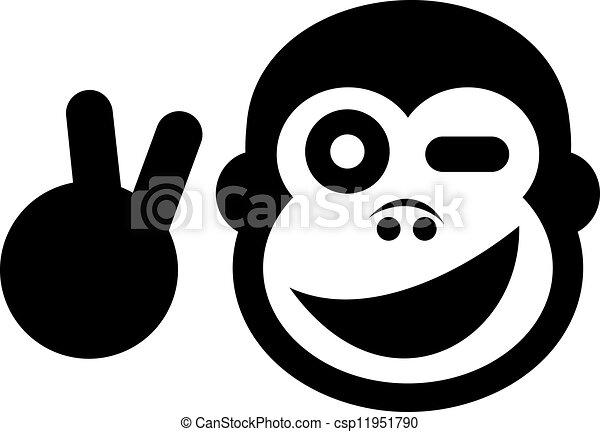 שלום, קוף - csp11951790