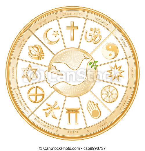 שלום של עולם, יונה, דתות - csp9998737