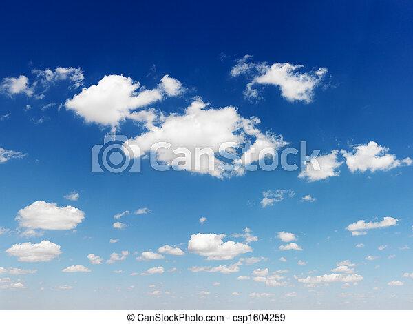 שמיים כחולים, clouds. - csp1604259