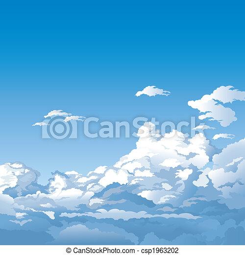 שמיים, עננים - csp1963202