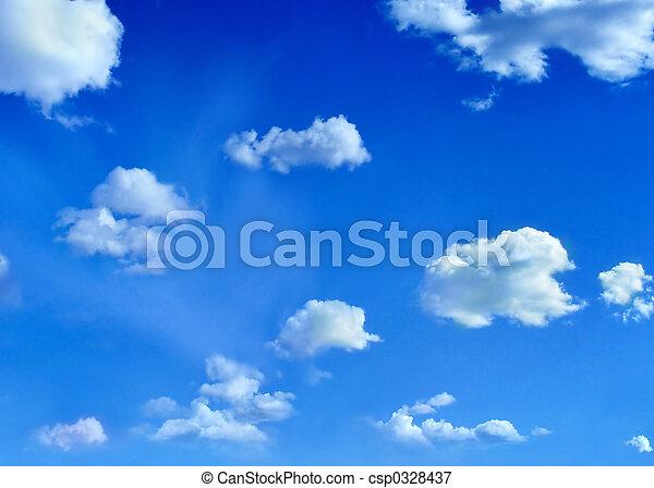 שמיים, עננים - csp0328437