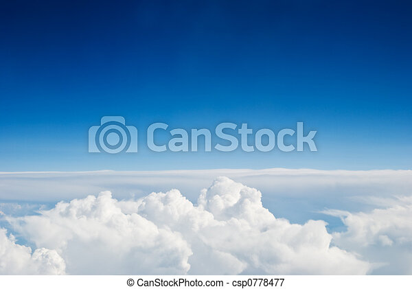 שמיים, עננים - csp0778477