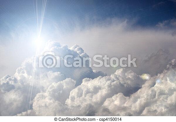 שמש, דרמטי, עננים, הבקע - csp4150014