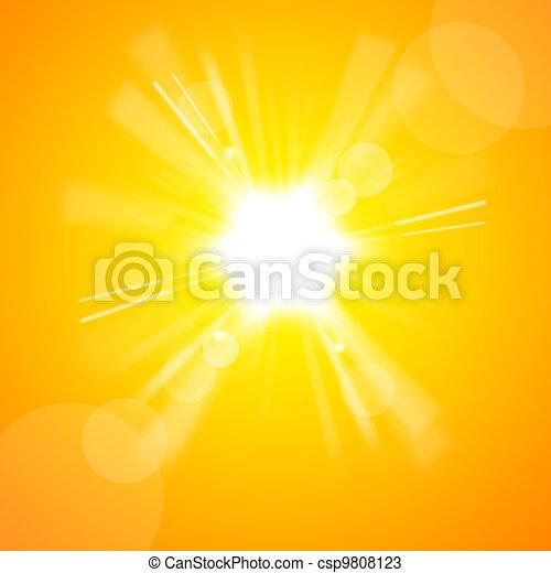 שמש, מואר, צהוב - csp9808123