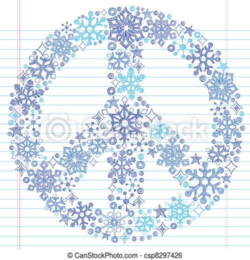 שרבט, sketchy, שלום, פתיתת שלג, חתום - csp8297426