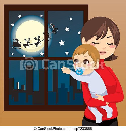 תינוק, רצה, חג המולד - csp7233866