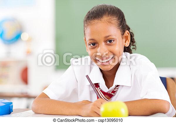 תלמידה, כיתה, ראשי, לשבת - csp13095010