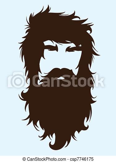 あごひげを生やした男 - csp7746175