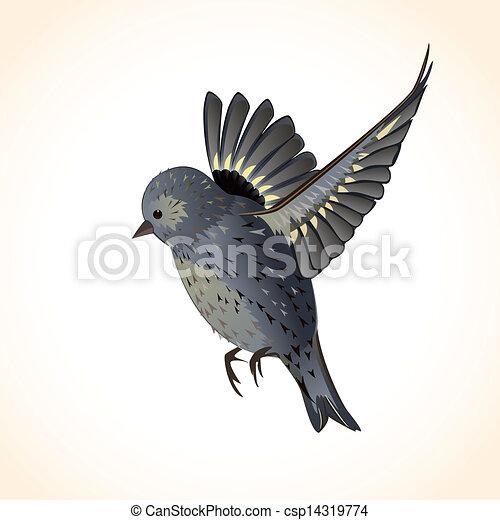 あなたの, かわいい, デザイン, 隔離された, 鳥 - csp14319774